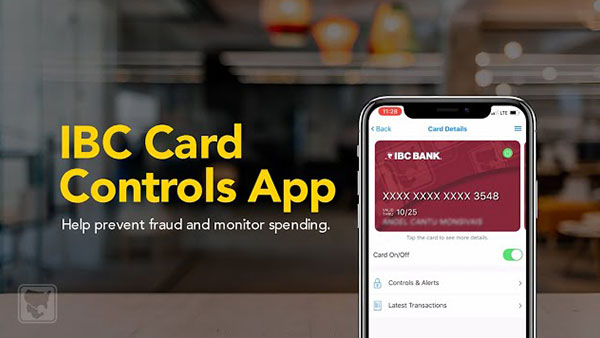 Help prevent fraud and monitor spending with the IBC Card Controls App | IBC Bank Demos