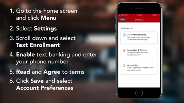 How to Use Text Banking in the IBC Bank App