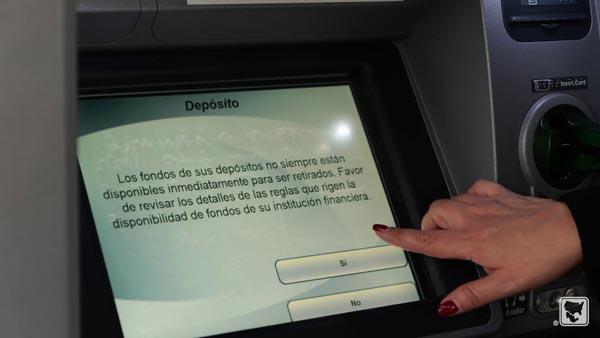 Depositos a través de cajeros automáticos