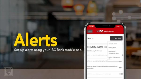How to Set Up Alerts Using Your IBC Bank Mobile App