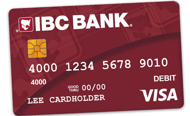 IBC Bank Instant Issue Visa Debit Card