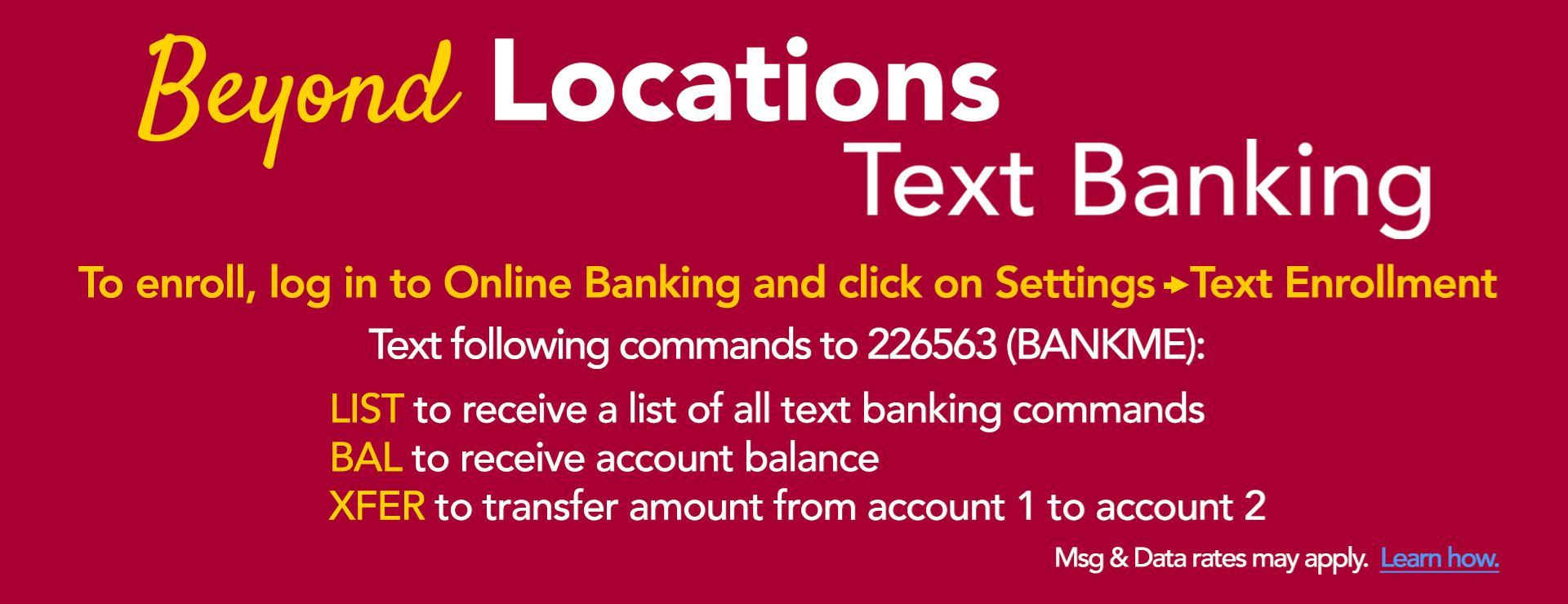 August 2020 - Text Banking