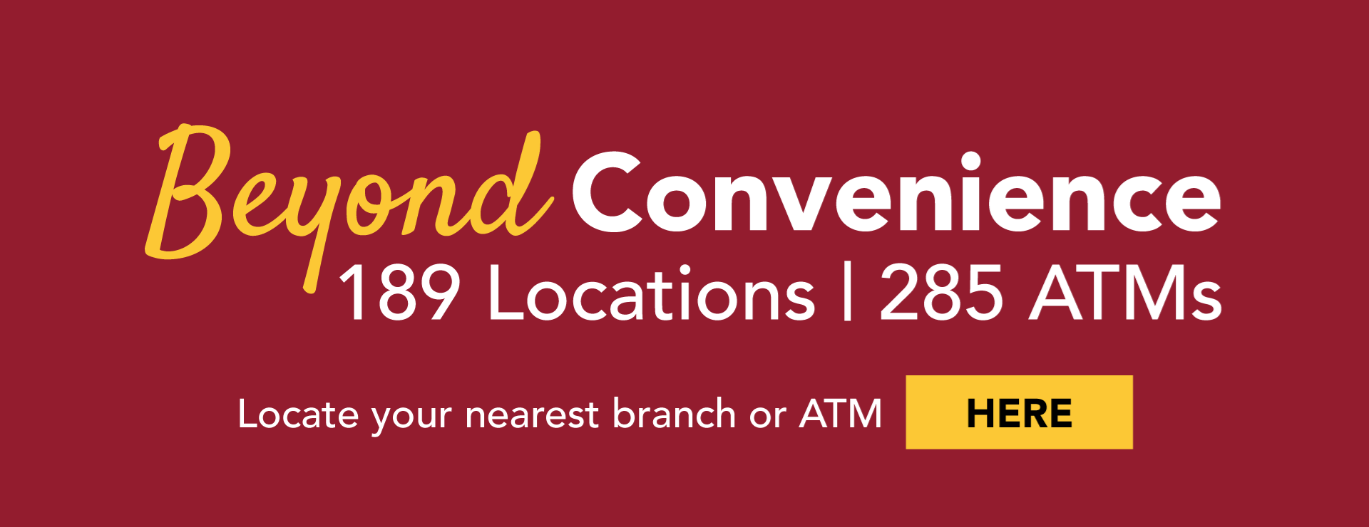 Beyond Convenience - ATMs & Branches