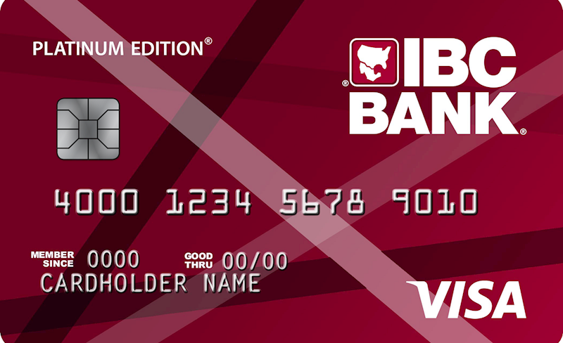 Get a Great Rate with the Platinum Edition Visa Card at IBC Bank